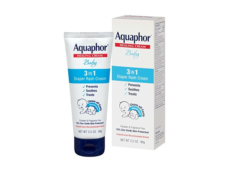 Aquaphor Baby 3-in-1 Diaper Rash Cream, 3.5 oz