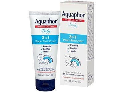 Aquaphor Baby 3-in-1 Diaper Rash Cream, 3.5 oz