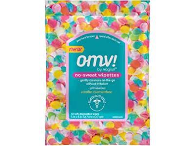 OMV! by Vagisil No-Sweat Wipettes, Vanilla Clementine