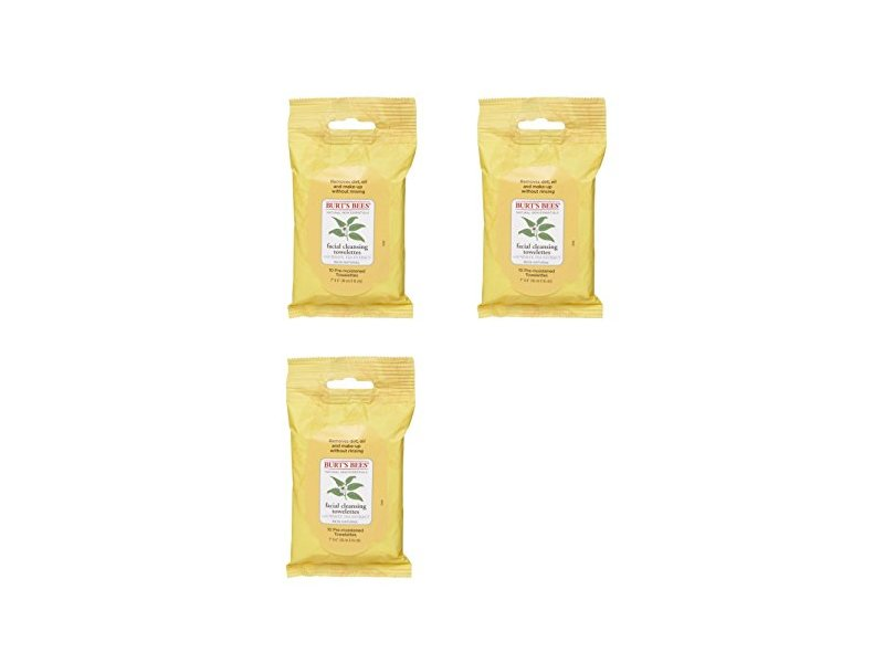 Burt's Bees Cleansing Facial Cleansing Towelettes, 10 count