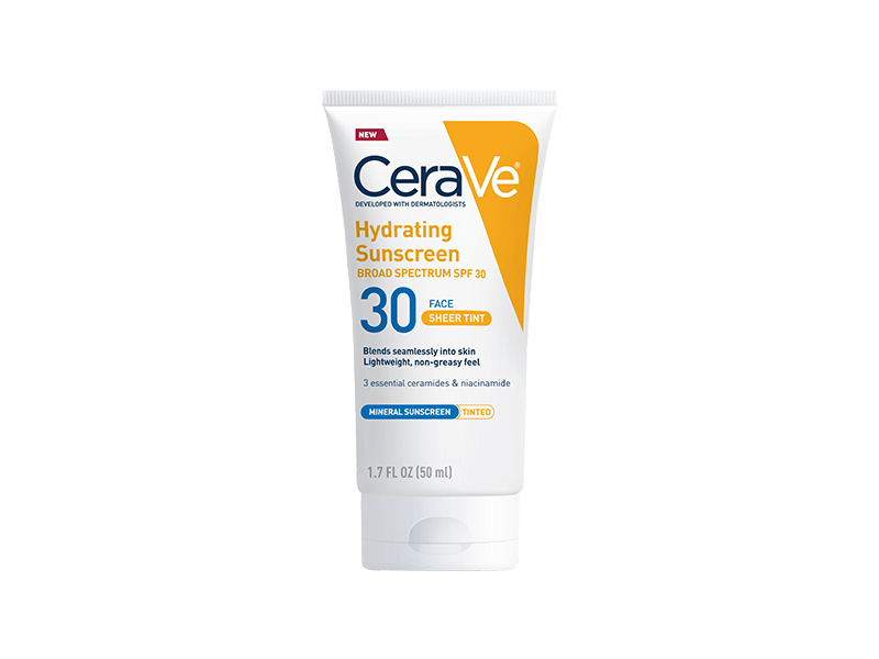 CeraVe Hydrating Sunscreen SPF30 Face Sheet Tint Mineral Sunscreen