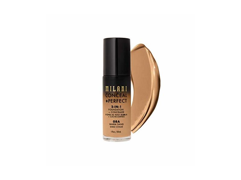 Milani Conceal + Perfect 2-in-1 Foundation + Concealer, Warm Sand, 1 fl oz