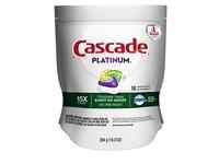 Cascade Platinum ActionPacs Dishwasher Detergent Lemon Scent, 18 ct - Image 2