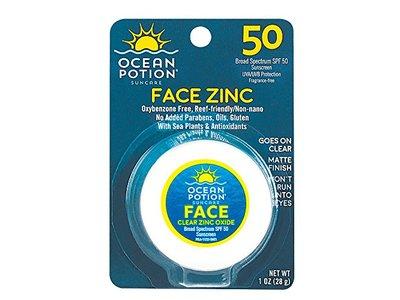 Ocean Potion Face Zinc SPF 50, 1 Ounce