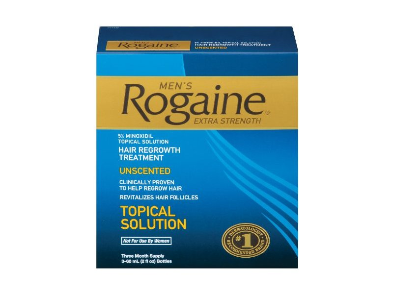 Men's Rogaine Extra Strength Hair Regrowth Treatment-unscented, Johnson & Johnson