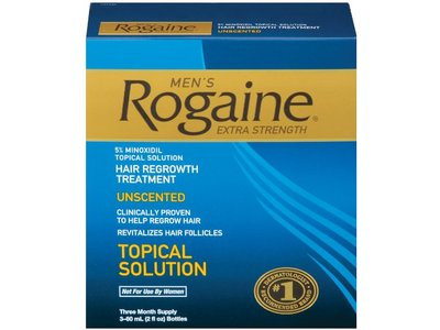 Men's Rogaine Extra Strength Hair Regrowth Treatment-unscented, Johnson & Johnson - Image 1
