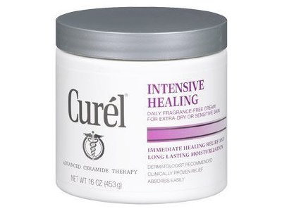 Curel Daily Cream Intensive Healing Fragrance-Free - 16 OZ