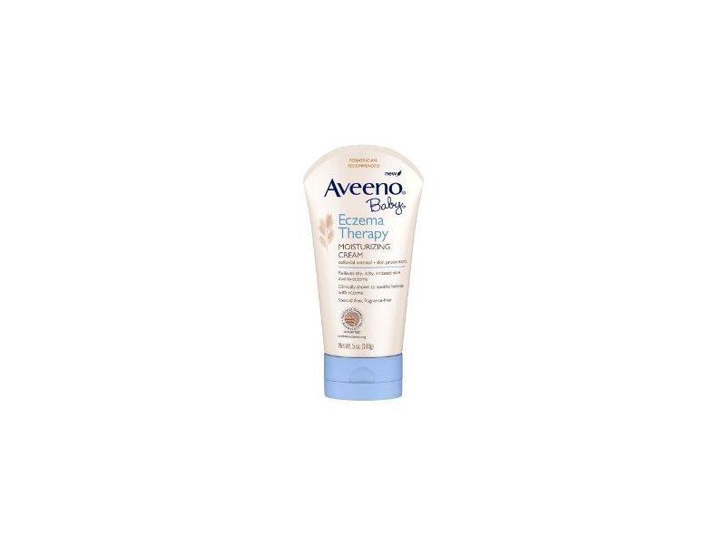 Aveeno Baby Eczema Therapy Moisturizing Cream, 5 Ounce (Pack of 2)