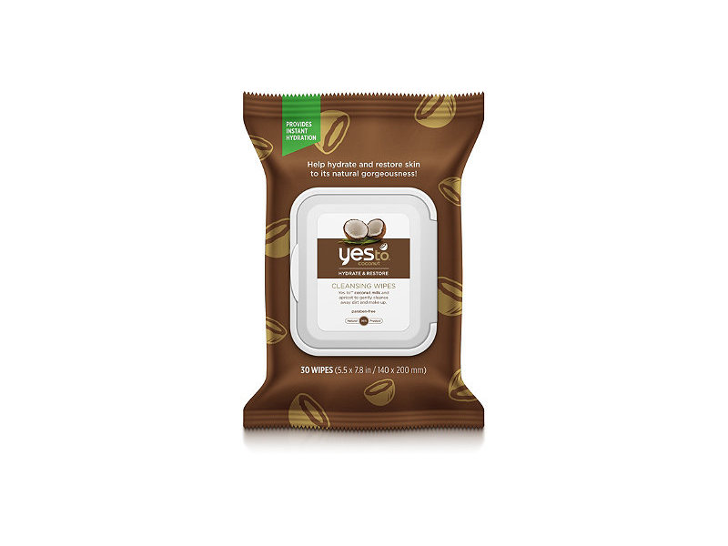 Yes To Coconut Cleansing Wipes, 30 ct