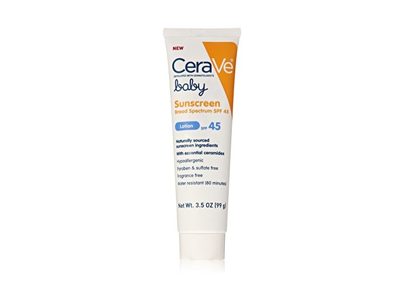 CeraVe Baby SPF 45 Sunscreen, 3.5 Ounce