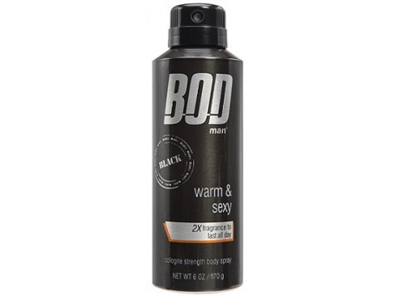 BOD Man Black Fragrance Body Spray, 6 oz