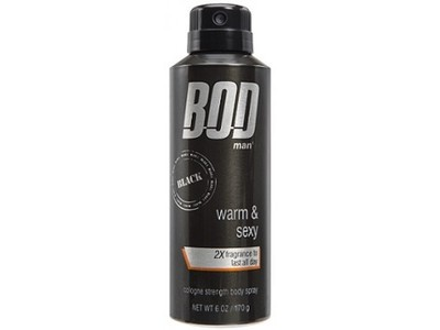 BOD Man Black Fragrance Body Spray, 6 oz