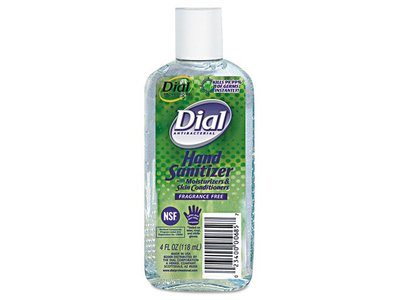 Antibacterial Hand Sanitizer with Moisturizers, Fragrance Free, 4oz Bottle