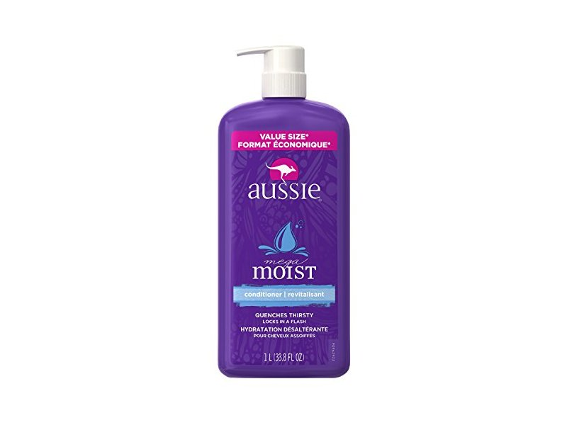 Aussie Mega Moist Conditioner, 33.8 Fluid Ounce (Pack of 4)