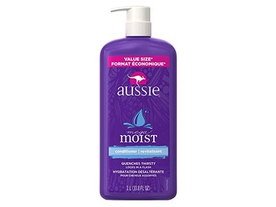Aussie Mega Moist Conditioner, 33.8 Fluid Ounce (Pack of 4) - Image 1