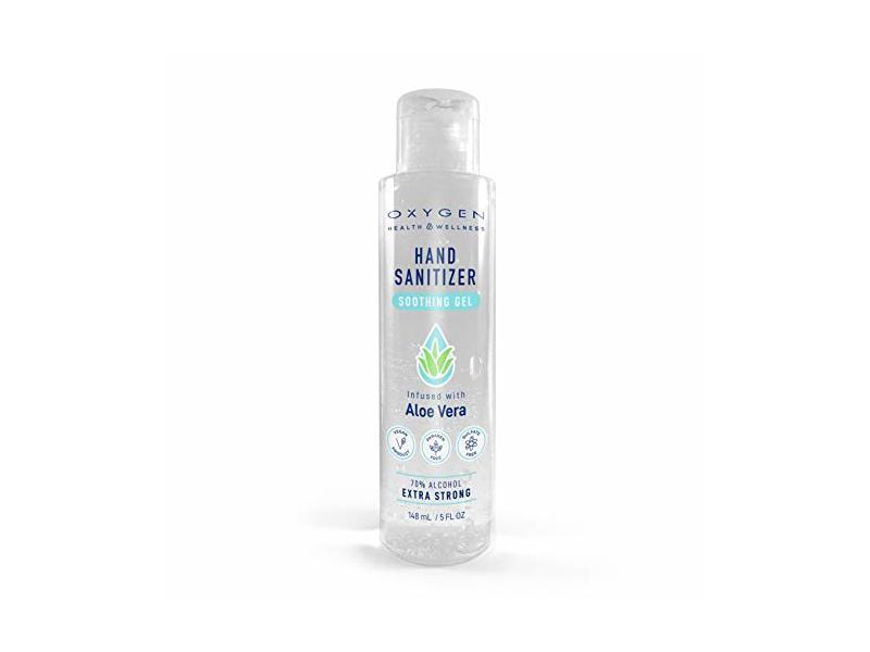 Jean-Patrique Oxygen Hand Sanitizer Soothing Gel, Aloe Vera & Vitamin E, 5 fl oz