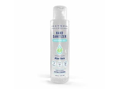 Jean-Patrique Oxygen Hand Sanitizer Soothing Gel, Aloe Vera & Vitamin E, 5 fl oz