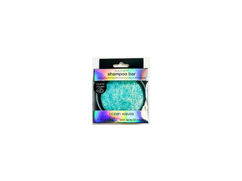 Body & Earth Shampoo Bar, Ocean Waves