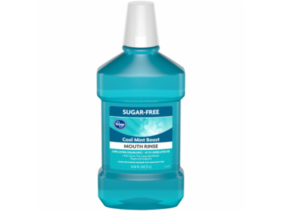 Kroger Blue Mint Antiseptic Mouth Rinse, 50.7 fl oz