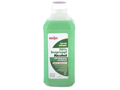 Meijer First Aid Antiseptic 70% Isopropyl Alcohol, Wintergreen & Glycerin, 16 fl oz
