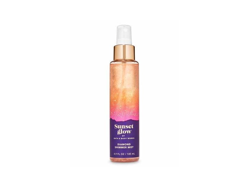 Bath and Body Works Sunset Glow, Diamond Shimmer Mist Body Spray, 4.9 fl oz/145 mL