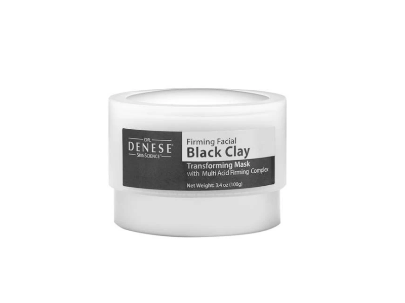 Dr. Denese Firming Facial Black Clay Mask, 3.4 oz