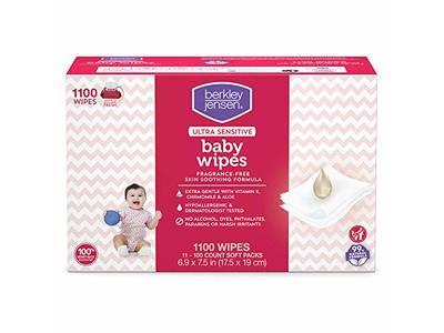 Berkley Jensen Ultra Sensitive Baby Wipes, 1100 Count