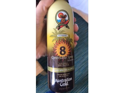 Australian Gold Continuous Spray Sunscreen with Instant Bronzer, SPF 8, 6 Ounce - Image 7