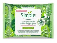 Simple Compostable Cleansing Wipes, 25 ct - Image 2