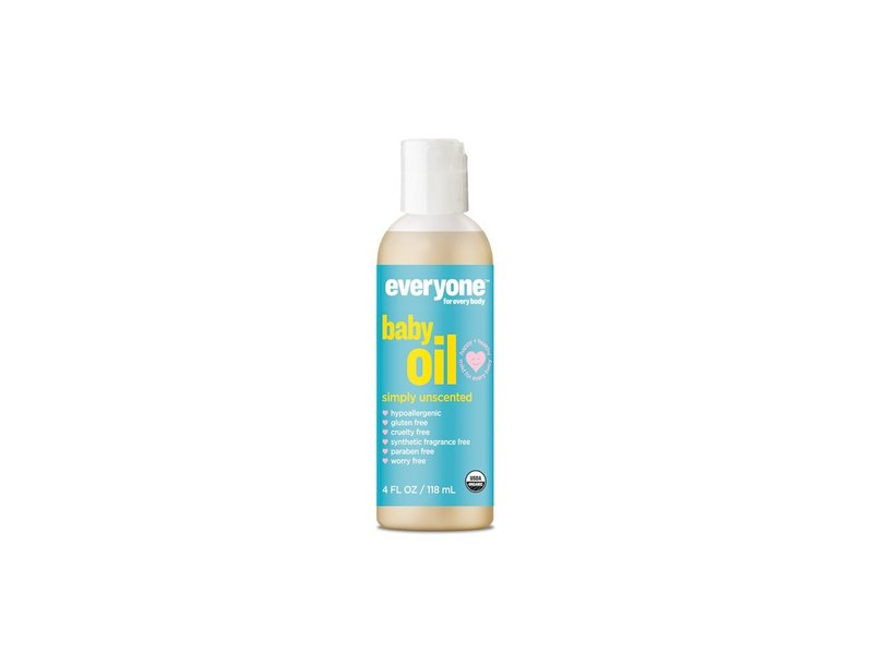 Everyone Soft Skin Organic Baby Oil, Simply Unscented, 4 oz