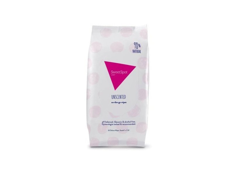 SweetSpot Unscented Feminine On-The-Go Wipes, 30 count