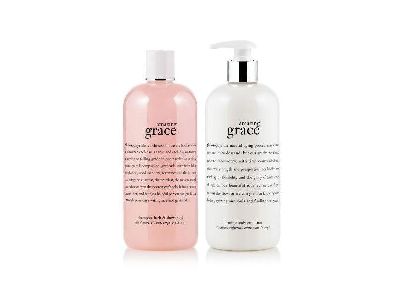Philosophy Amazing Grace Bath Duo: Shampoo - Shower Gel & Firming Body Emulsion - 16 Oz Each