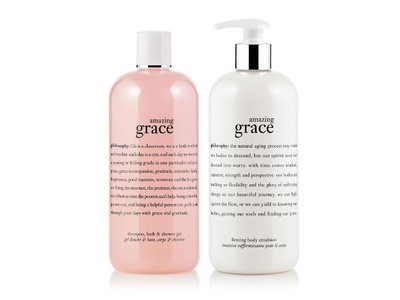 Philosophy Amazing Grace Bath Duo: Shampoo - Shower Gel & Firming Body Emulsion - 16 Oz Each