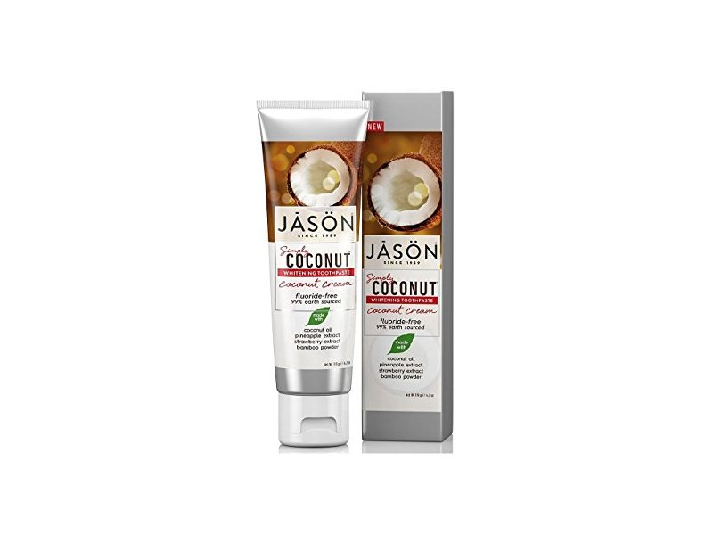 JASON Simply Coconut Whitening Toothpaste Coconut Cream, 4.2 oz.