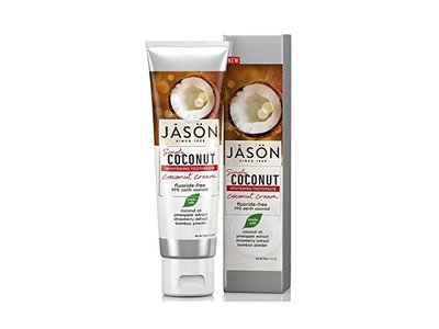 JASON Simply Coconut Whitening Toothpaste Coconut Cream, 4.2 oz.