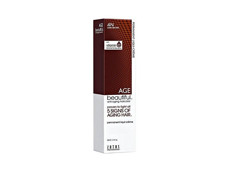 Agebeautiful 4n Dark Brown Permanent Liqui Creme Hair Color
