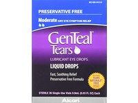 GenTeal Tears Lubricant Eye Drops, Moderate Liquid Drops, 36 Sterile, Single-Use Vials, 0.9 ml - Image 2