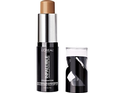 L'Oreal Paris Makeup Infallible Longwear Foundation Shaping Stick, Up to 24hr Wear, Medium to Full Coverage Cream Foundation Stick, 410 Cocoa, 0.3 oz. - Image 4