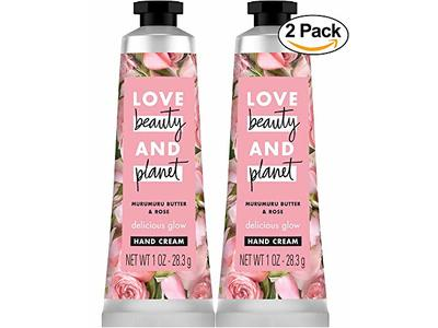 Love Beauty and Planet Murumuru Butter & Rose Delicious Glow Hand Cream Body Lotion - Rose - 1oz - Pack of 2 - Image 1