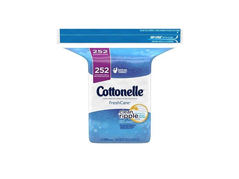 Cottonelle Fresh Care Flushable Cleansing Cloths, 252 Count