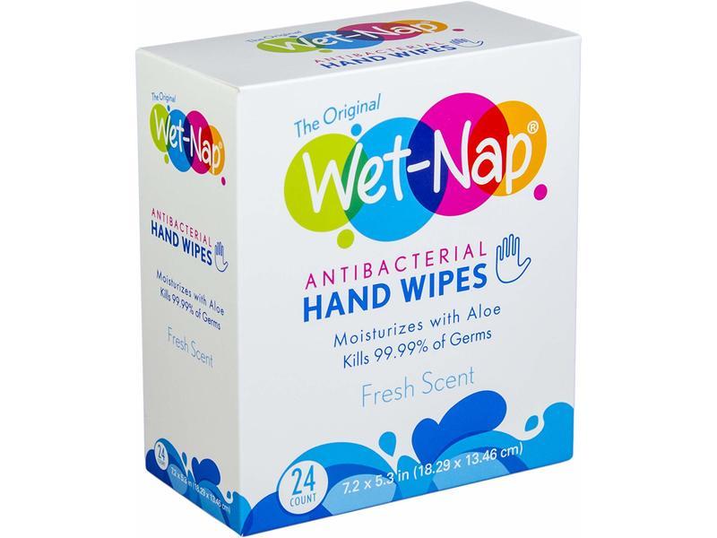 Wet-Nap Antibacterial Hand Wipes, Fresh Scent