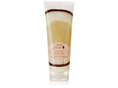 100% Pure Coconut Shower Gel, 8 oz