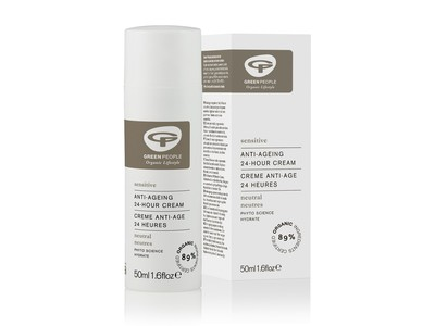 Green People Organic Lifestyle Neutral/Scent Free Anti-Ageing 24 Hour Cream, 50 mL