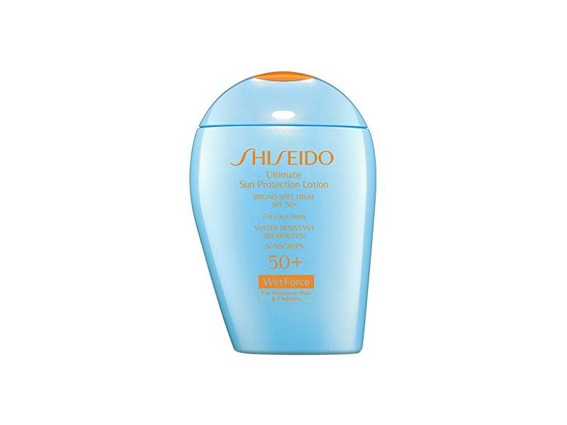 Shiseido Ultimate Sun Protection Lotion WetForce for Sensitive Skin & Children, SPF 50, 3.3 oz