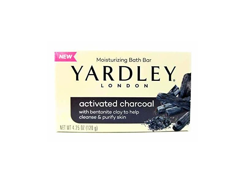 Yardley Activated Charcoal Moisturizing Bath Bar, 4.25 oz (120 g)
