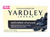 Yardley Activated Charcoal Moisturizing Bath Bar, 4.25 oz (120 g) - Image 2