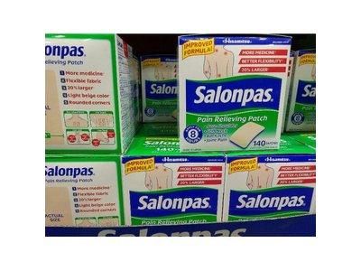 Salonpas Pain Relieving Patch, 140 Count