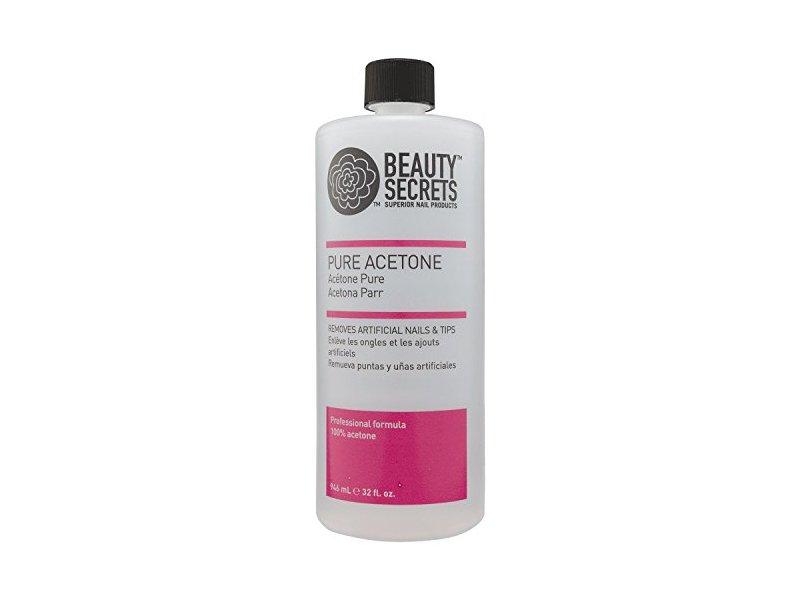 Beauty Secrets Manicurist Solvent Pure Acetone Nail Polish Remover, 32oz