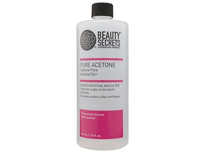 Beauty Secrets Manicurist Solvent Pure Acetone Nail Polish Remover, 32oz