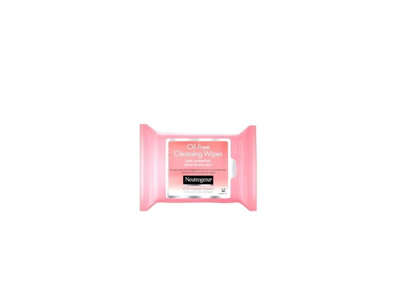 Neutrogena Oil-Free Facial Cleansing Wipes with Pink Grapefruit